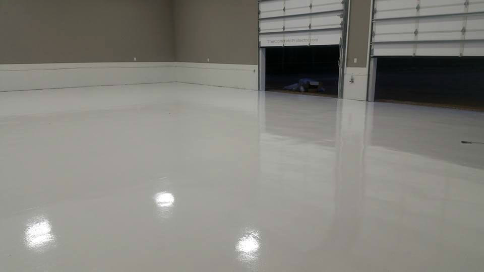 white epoxy garage floor coating ashburn va